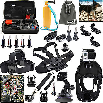 EEEKit for GoPro HERO4 Session/HERO+ LCD/HERO 4 3+,Bag/Head/Selfie/Dog/Car Mount