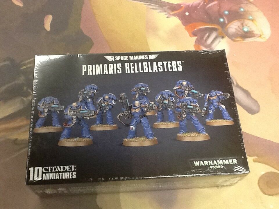 40K Warhammer Space Marines Primaris Hellblasters 10Man  NIB Sealed