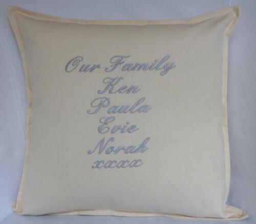 our Family tree gift Birthday wedding Personalised house moving keepsake Cushion