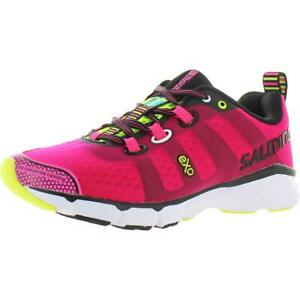 Salming-Womens-enRoute-Pink-Athletic-Shoes-Sneakers-6-5-Medium-B-M-BHFO-8946