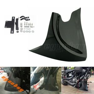 Black-Chin-Fairing-Front-Spoiler-for-Harley-Dyna-Fatboy-Softail-V-ROD-Choppers