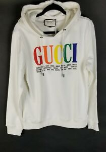 405a8b06c84 Image is loading Gucci-Hoodie-USA-Medium-White-Multi-Color