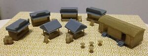 Outland-Models-Railroad-Christmas-Market-Booth-amp-Toilet-Accessories-Set-N-Scale