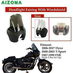 Motorcycle-Fairing-Windscreen-ABS-Front-Headlight-For-Harley-Dyna-FXD-T-Sport