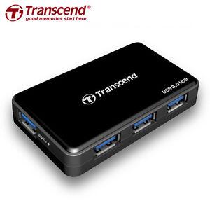 Transcend-Information-Super-Speed-USB-3-0-4-Port-Hub-TS-HUB3K-Black