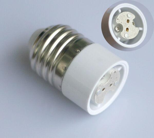 4x Sockel Adapter E27 auf G4 MR16 GU5.3 für LED o. Halogen Leuchtmittel Lampe