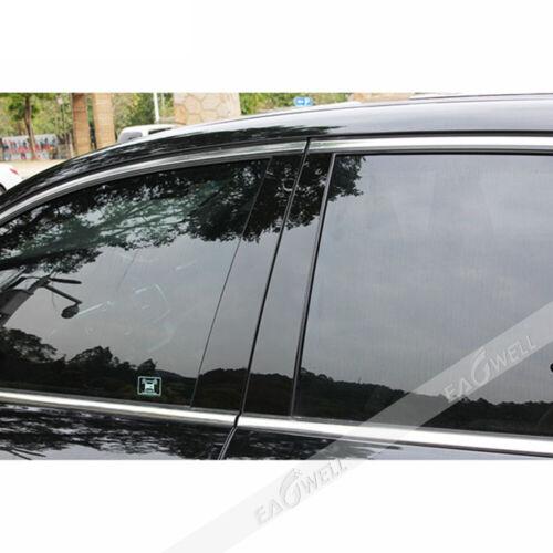 6pc For Honda Accord 2013-2017 Glossy Black Window Pillar Post Accent Trim Cover