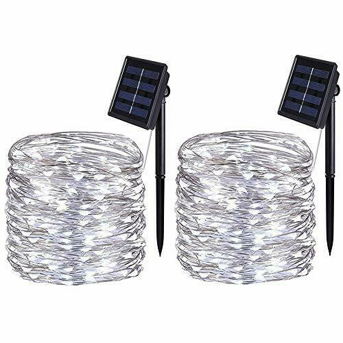 Energia Solare Lucine Confezione da 2 10 METRI//33Ft bolweo energia solare stringa luci