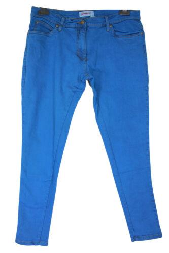 New Ladies Plus Size Royal Blue Stretch Skinny Jeans 16-28