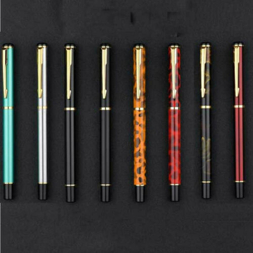 Baoer 801 Black Metal Golden Clip Fountain Pen 0.5mm Nib Office Writing Gift #sd