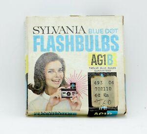 Vintage Sylvania Blue Dot Flashbulbs AG1B Twelve Blue Bulbs. New old stock.