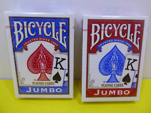 Brand New 2 Decks of Bicycle Jumbo Face Playing Cards Sealed!