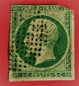 """EMPIRE Non D.N° 12, oblitér(-TB601-)petits points cercle """"Bouchon""""COTE 295 Def"""