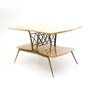 Tavolino In Ottone.Dettagli Su Tavolino In Ottone E Marmo Anni 50 Mid Century Coffee Table Brass Marble