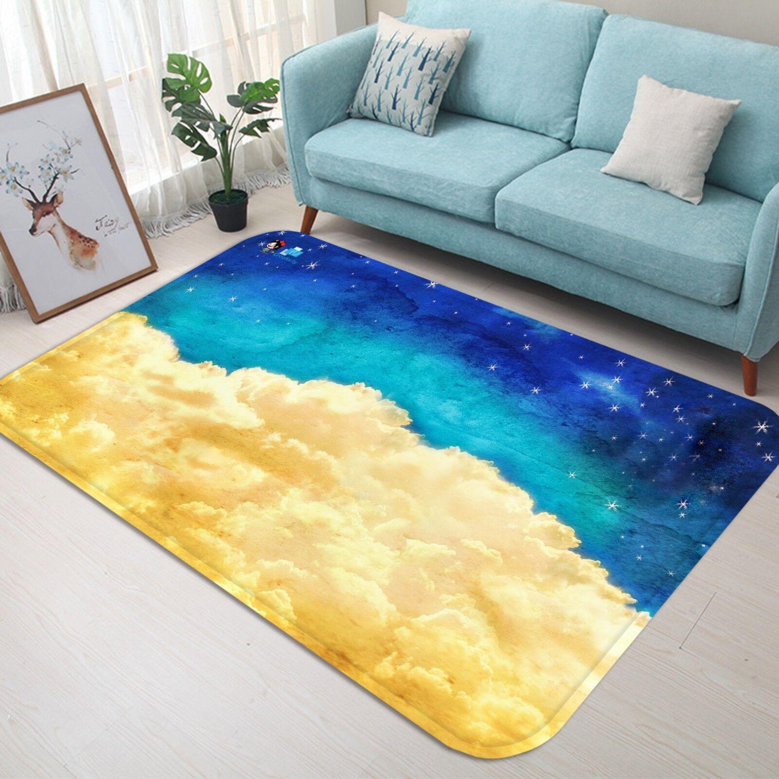 3d GIALLO nuvole 044 non-slip CARPET MAT quality elegante Carpet de Summer