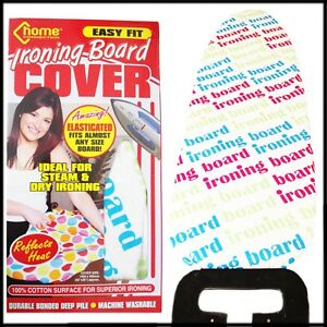 Ironing-Board-Cover-Easy-Fit-ALL-Cotton-Padded-Elastic-Tie-UNDERLAY-Reflective