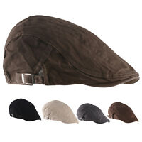 Men's Ivy Hat Solid Cotton Cap Golf Driving Gatsby Flat Cabbie Newsboy Sun Cap