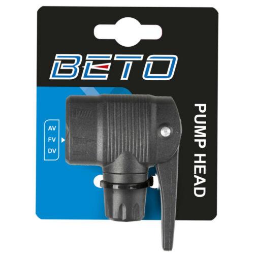 Raccord double de pompe BETO atelier embout valve gonflage PRESTA SCHRADER vélo