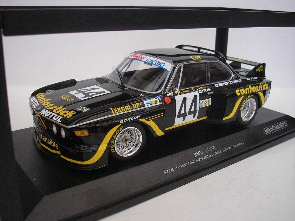 BMW 3.5 Csl  44 24 Ore le uomos 1976 Justice 118 Minichamps 155762644 Nuovo