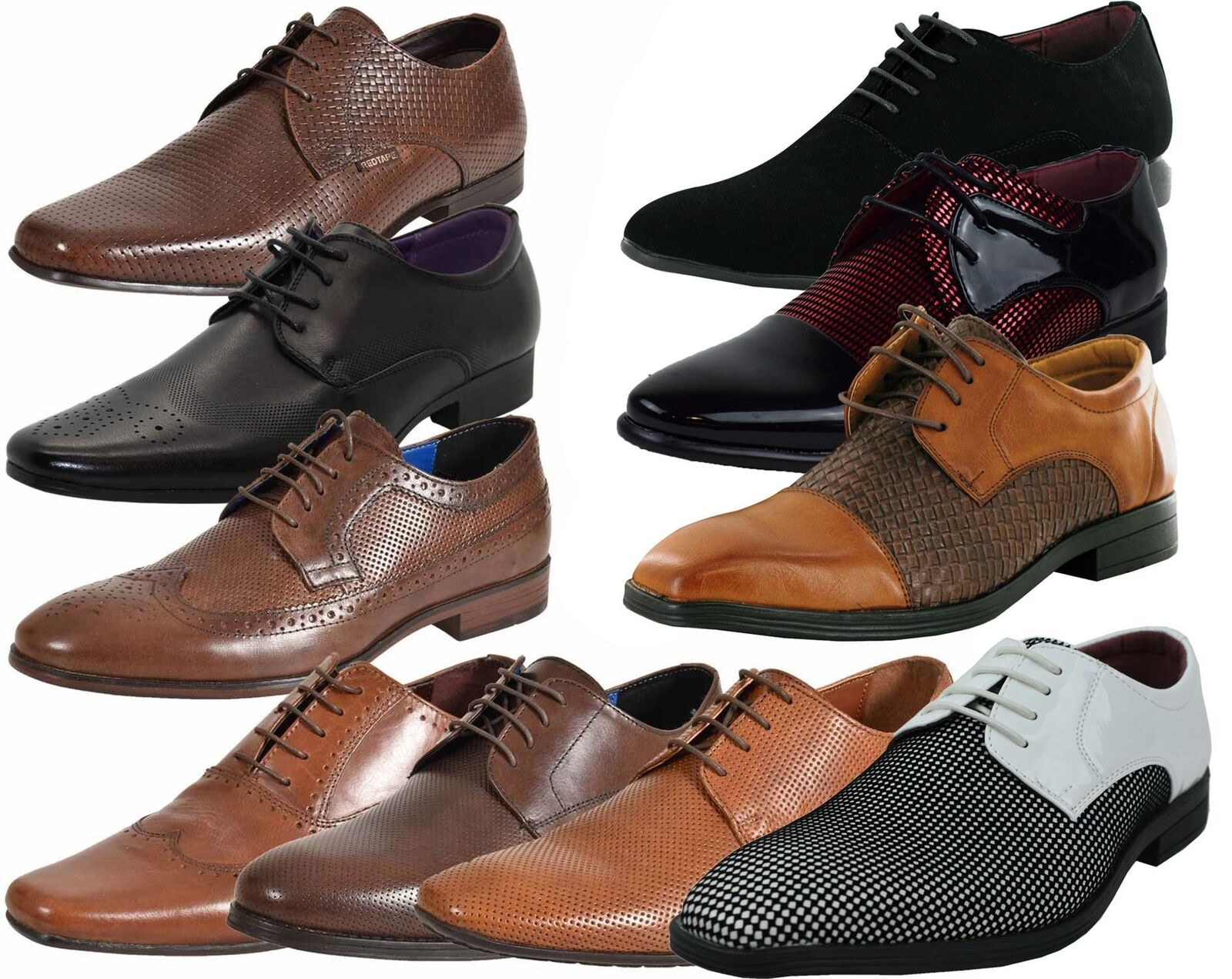 Mens UK Style Leather Lining Work Formal Office Wedding Smart Work Lining Brogue Shoes f58c38