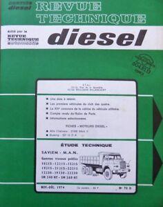 Revue-technique-DIESEL-SAVIEM-MAN-SM-240-260-10215-12215-15215-19215RTA-70D-1974