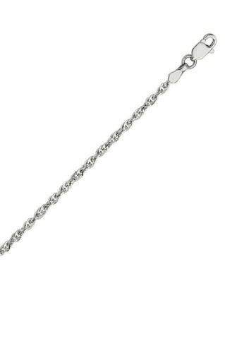 Details about  /14k White Gold Double Rope Chain Necklace 1.8mm 030 Gauge