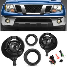 For 05 16 Nissan Frontier Withmetal Chrome Clear Bumper Fog Lights Lamps Kit Lhamprh Fits 2011 Nissan Frontier