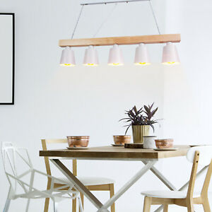Detalles de Lámpara Colgante Comedor Iluminación Interior Araña de Techo  madera y metal