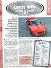 Lancia Rally 037 4 Cyl. 1982 Italia Italy Car Auto Voiture FICHE FRANCE