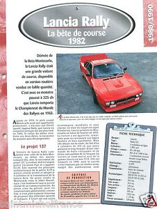 Lancia-Rally-037-4-Cyl-1982-Italia-Italy-Car-Auto-Voiture-FICHE-FRANCE