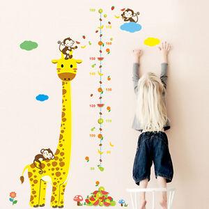 XXL Wandtattoo Giraffe Affen Kinder Meßlatte Wandsticker ...