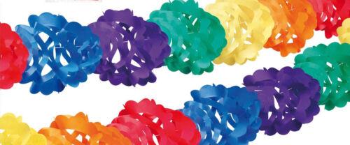 Partykette 4 Meter bunt Girlande Papiergirlande HEKU Girlanden Party Dekoration
