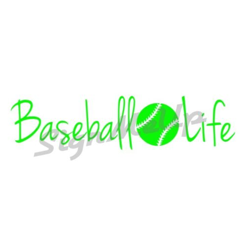 "Baseball Life Decal 9/"" x 2.25/"" Vinyl Window Sticker for Car or Truck"