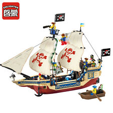 NEW ENLIGHTEN Pirates of the Caribbean Sea Overlord Boat Blocks Minifigures Toys