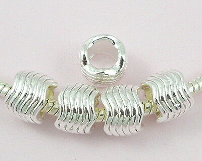 30pcs Silver Plated Charm Beads Fit Bracelet NY19