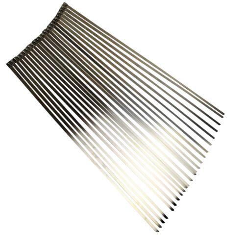 Acier Inoxydable Métal Cable Ties Zip Ties 150-680 mm Tailles