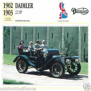 DAIMLER-22-HP-1902-1903-CAR-VOITURE-GREAT-BRITAIN-GRANDE-BRETAGNE-CARD-FICHE
