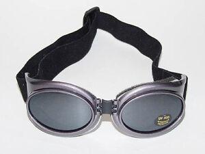 New-Cyber-Goth-Punk-Industrial-Rave-Purple-Gray-Metallic-Mirror-Lens-Goggles