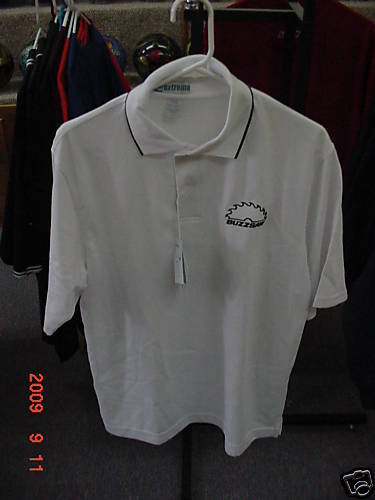 LANE BUZZSAW WHITE POLO SHIRT-MEDIUM-FREE SHIPPING