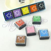 New 5 Color DIY Washable Kids Foam Ink Stamp Pad Set Inkpad Child-safe !
