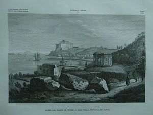 1845-Zuccagni-Orlandini-Avanzi-del-Tempio-di-Venere-a-Baja-Provinicia-di-Napoli