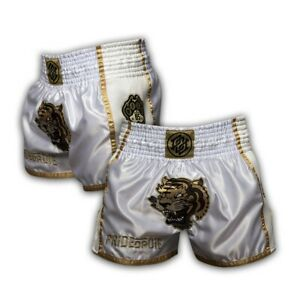 Pride-Or-Die-Muay-Thai-Shorts-Unleashed-Weiss-S-2XL-Thaiboxen-MMA-Training