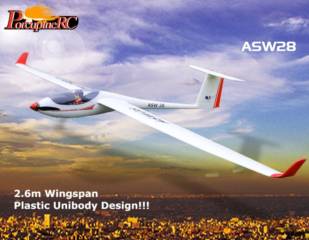 Volantex 2600mm ASW28 ASW-28 V2 RC Glider  PNP No Radio  ultimi stili