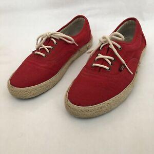 Vans Hemp Size 9 5 Uk Shoes Natural Wicker Hessian Style Ebay