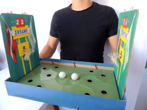 1978-Vintage-Soviet-USSR-Kids-Toy-Table-Top-BASKETBALL-Game-Sports-Board-Working