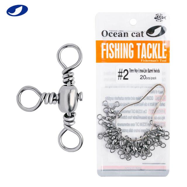 10pcs Tackle Crimp Fishing Swivel Cross Line Tool Part Hook Crane Outdoor Sports