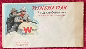 WINCHESTER RIFLES & CARTRIDGES - 1912 UNUSED COVER / ENVELOPE - RARE