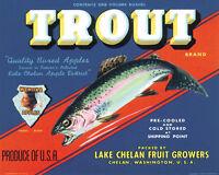 Trout Lake Chelan Wenoka Apples Washington 8x10 Vintage Poster Repro Free S/h