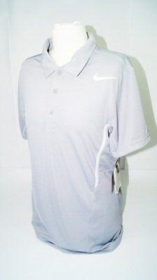 * Nuovo * Nike Dri Fit Uomo Polo Tennis Tg. Xs Grigio Allenamento Classic Air New-