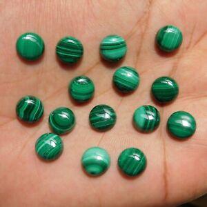 4x4 mm Round Malachite Cabochon Loose Gemstone Wholesale Lot 30 pcs